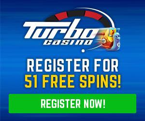Ontvang 51 gratis spins bij Turbo Casino
